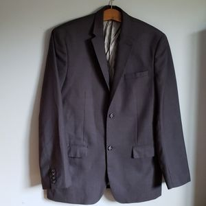 Perry Ellis Mens Suit Jacket 2 button blazer gray